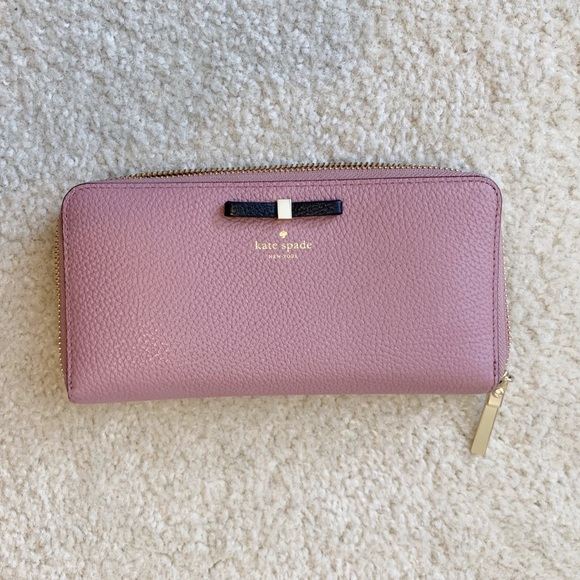 kate spade Handbags - Kate Spade Cooke Hill Bow Lacey Wallet Dusty Peony